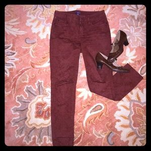 Ox blood NYDJ  Legging trousers size 2.  Embossed
